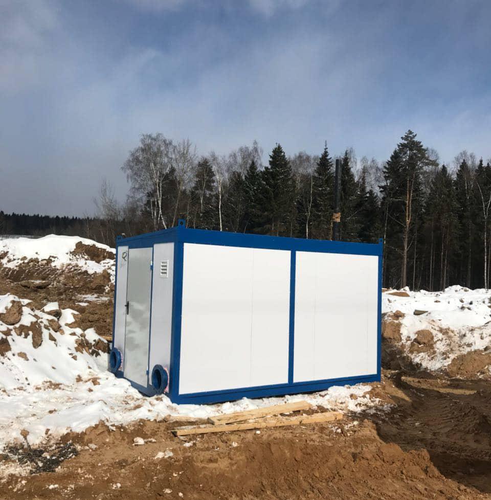 Блокконтейнер для размещения оборудования механической очистки установки «Тверь-1000»