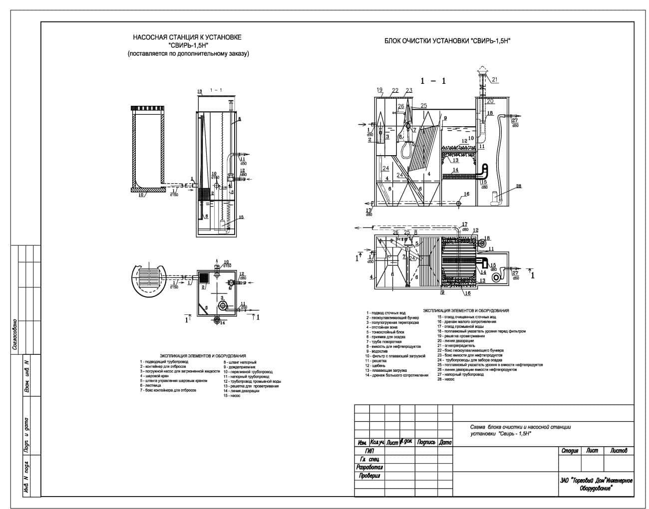 Очистное сооружение Свирь-1,5Н