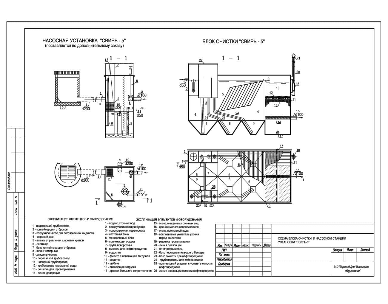 Очистное сооружение Свирь-5