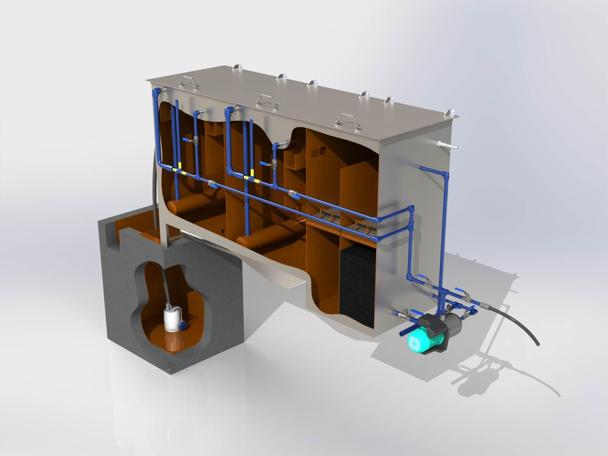 Очистное сооружение Свияга-БК-1 для бесконтактных автомоек